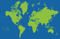 High detailed world map Royalty Free Stock Photos