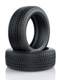High detaled winter tyres isolated Stock Images