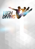 High diving background Stock Photo