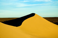High dunes in Patagonia. Sand dunes in Peninsula Valdes, Patagonia, southern Argentina Stock Image