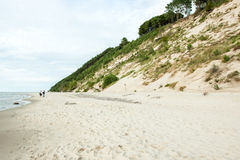 The high dunes. By the sea Royalty Free Stock Photo