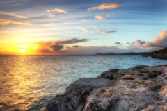 High Dynamic Range (HDR) Caribbean sunset Royalty Free Stock Images