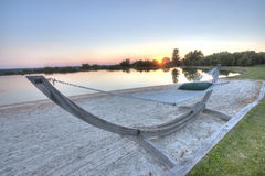 High Dynamic Range (HDR) hammock Royalty Free Stock Images