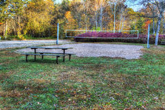 High Dynamic Range image of a campsite. Royalty Free Stock Photos