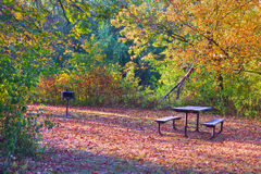 High Dynamic Range image of a campsite. Stock Photos