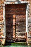 Venice Door with Canal Stock Image