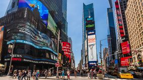 Times Square New York City Daytime Timelapse. stock video