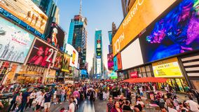 Times Square New York City Sunset Timelapse. stock video footage