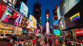 Times Square New York City Night Timelapse. stock video footage