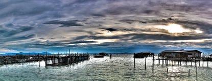 High Dynamic Range, Panorama Fishing village.  Stock Image