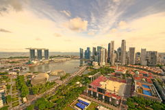High Dynamic Range Photograph of Singapore Stock Image
