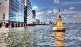 High Dynamic Range picture of architecture in Amsterdam. On a sunny day Royalty Free Stock Images