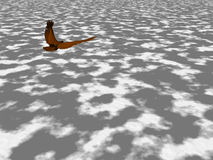 High Eagle. Eagle soaring high above the clouds Stock Images