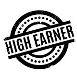 High Earner rubber stamp Stock Image