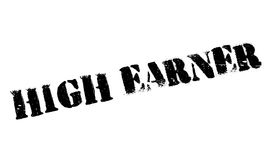 High Earner rubber stamp Royalty Free Stock Images