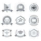High education logos set. Vector ilustration. High education logos set. Vector Royalty Free Stock Photo