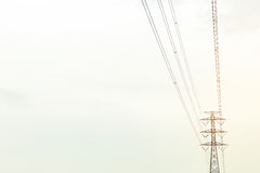 High electric post. High electric post under the sky Stock Photography