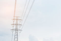 High electric post. High electric post under the sky Stock Image