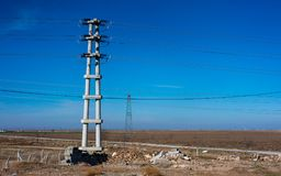 High Electric Voltage Power Transmission royalty free stock photo