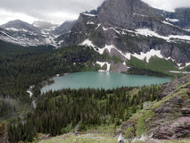 High elevation lake, Glacier National Park Royalty Free Stock Photos