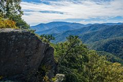High Elevation View of the Blue Ridge Mountains royalty free stock photo