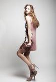 High-End μοντέλο μόδας στοκ εικόνες