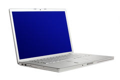 High-end aluminium laptop, tilt view. Stock Images