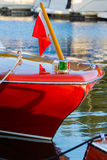 Vintage wooden boat. Moored at dock Stock Images
