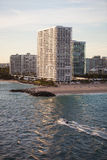 High End Condominium and Apartment Buildings in Fort Lauderdale Royalty Free Stock Photography