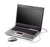 High-end laptop computer with mouse Stock Photography
