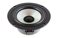 High-End low mid-range driver loudspeaker Stock Photo