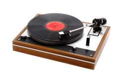 High End Record Turntable with Record Stock Image