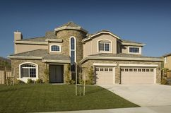 High End Tract Semi Custom Home Stock Image