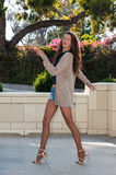 High energy with pantyhosed legs Stock Photos