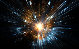 High-energy particles explosion. Royalty Free Stock Photos