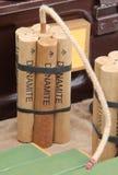 High Explosive Dynamite Sticks. Royalty Free Stock Photos