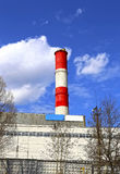 High factory chimney Stock Photo