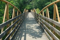 High Falls Bridge. Wooden bridge over river at High Falls in Geraldine Alabama Stock Images