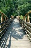 High Falls Bridge. Wooden bridge over river at High Falls in Geraldine Alabama Royalty Free Stock Photo