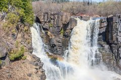 High Falls in Grand Portage State Park Stock Photos