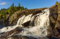 High Falls on Muskoka River. In Ontario Royalty Free Stock Photo