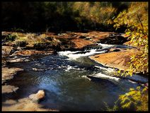 High falls state park. The breathtakingly beautiful high falls Royalty Free Stock Images