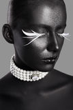 High fashion beauty style. face art. Royalty Free Stock Photography