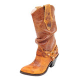 High Fashion boot, leather woman western style boot Royalty Free Stock Photo