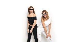 High-fashion. Glamorous stylish young women model Royalty Free Stock Image