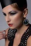 High fashion headshot. Of beautiful model stock images