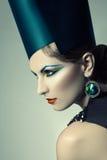 High fashion headshot. Of beautiful model royalty free stock image