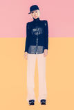 High fashion look. Girl in fashionable clothes. Royalty Free Stock Photography