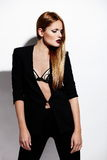 Sexy stylish Caucasian young model Stock Photo