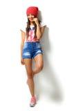 High fashion look.glamor stylish beautiful young woman model Stock Photography